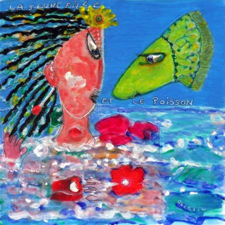 La jeune fille et le poisson